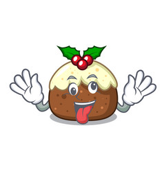crazy fruit cake mascot cartoon vector image