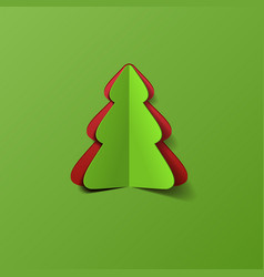 Creative Christmas tree vector image