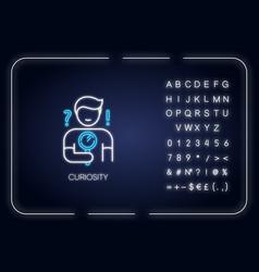 curiosity neon light icon vector image