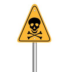 danger skull pole warning sign symbol design on vector image