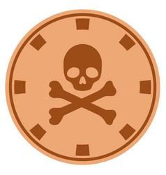 Death copper casino chip vector
