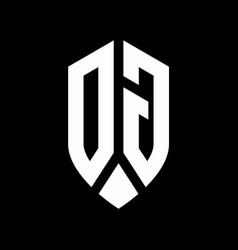 dg logo monogram with emblem shield style design vector image