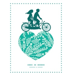 emerald green plants couple on tandem vector image