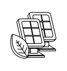 Figure solar energy eco icon vector