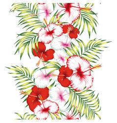 floral ribbon seamless vector image