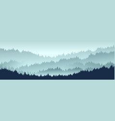 forest landscape layered trees background vector image