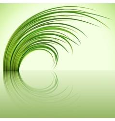 Fragment of the green grass on green background vector
