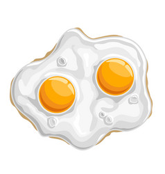 Fried chicken egg vector