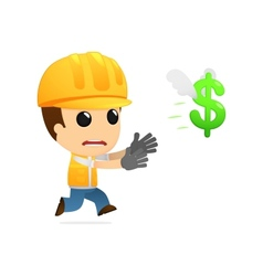 funny cartoon builder vector image