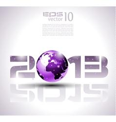 Futuristic 2013 background vector image