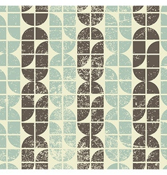 Geometric seamless tiles in retro style background vector