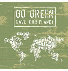 Go Green poster vector