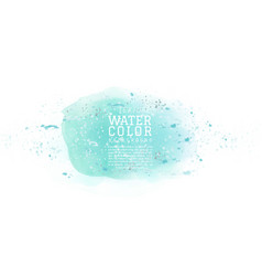 Green abstract watercolor with splash dot vector
