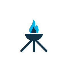 grill icon colored symbol premium quality vector image