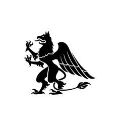 Gryphon mythical creature isolated beast vector