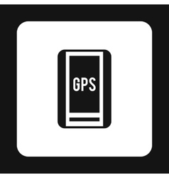 Handheld JPS icon simple style vector