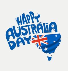 Happy australia day concept vector