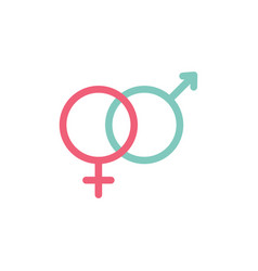 heterosexual gender symbol icon male and vector image