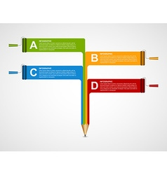 Infographics template with pencil and roller brush vector
