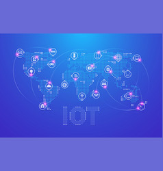 iot internet things and network connection vector image