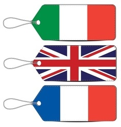 Lable made in italy england and france vector