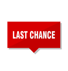 Last chance red tag vector