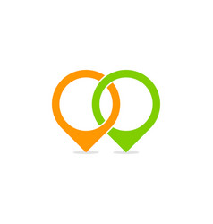 link point logo icon design vector image