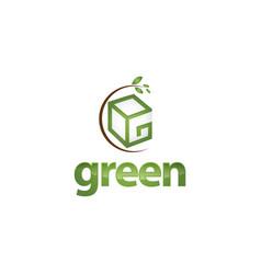 logo graphic elegant green possible font symbol vector image