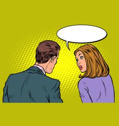 man and woman dialogue vector image