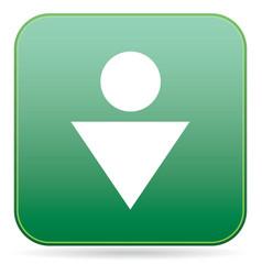 man toilet icon vector image