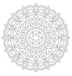 Mandala design bohemian zen stroke pattern vector