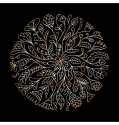 Mandala ornament golden pattern for your design vector