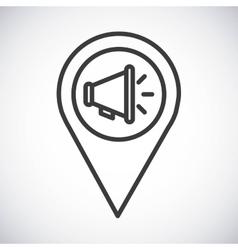 Megaphone Silhouette icon design graphic vector