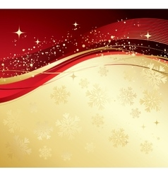 Merry christmas card with gold snowflakes vector