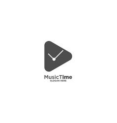 Music time logo design template vector