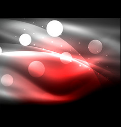 Neon wave background with light effects curvy vector