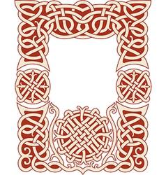 nordic frame pattern vector image