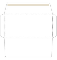 Office envelope cut up template vector