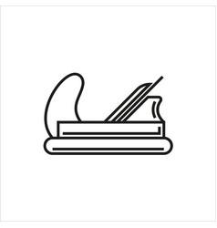 plane icon on white background vector image