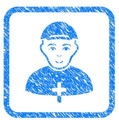 priest framed stamp vector image
