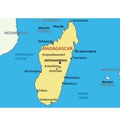 Republic of Madagascar - map vector image
