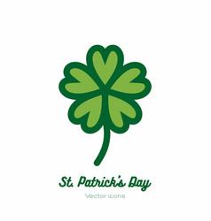 Saint patricks day lucky clover shamrock trefoil vector