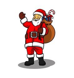 Santa and Sack of Gifts vector image