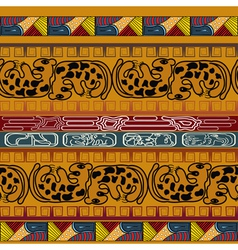 Seamless ethnic texture with leopard vector image