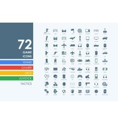 Set gaming icons vector