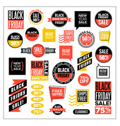 set of banners for black friday and holiday sales vector image