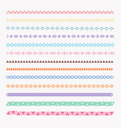 set of colorful line grunge hand drawn textures vector image