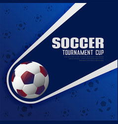 Soccer tournament football sports poster vector