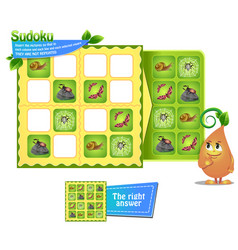 sudoku game insects vector image