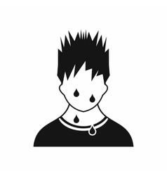 Sweaty man icon simple style vector